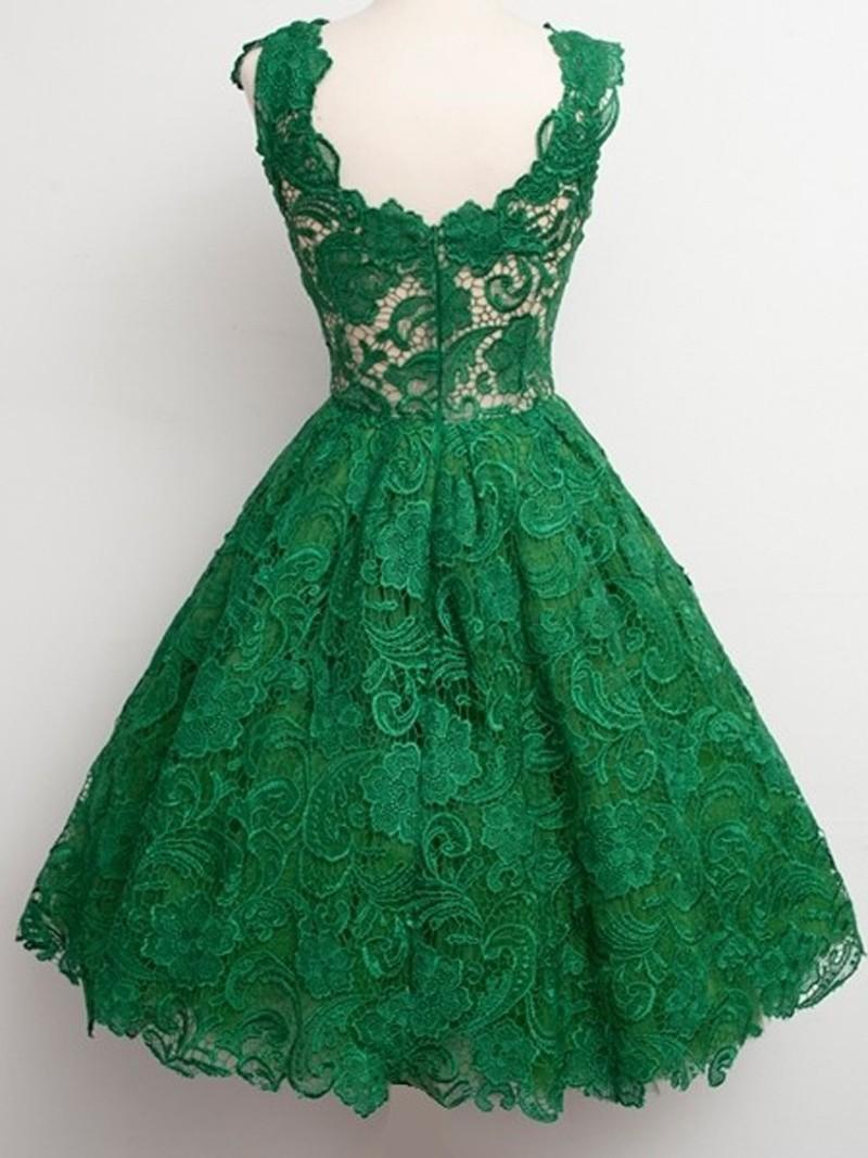 2016-Hot-Sell-Emerald-Green-V-Neck-Sleeveelss-Knee-Length-Cocktail-Dress-Lace-Short-Formal-Dress