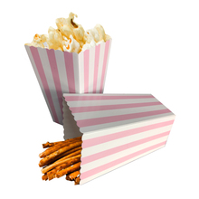 12Pcs Colorful Chevron Paper Popcorn Boxes Wedding Table Decoration Baby Shower Birthday Party Decorations Event Supplies