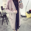 2017 Casual Autumn Winter Spring Female Knitted Cardigans Pocket Tricot Coat Pull Femme Jacket Long Sleeve V-Neck Women Sweaters