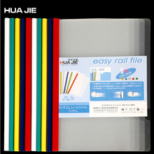 Clip File-Folder Filing-Product Document-Storage Business Transparent Colorful Spine-Bar