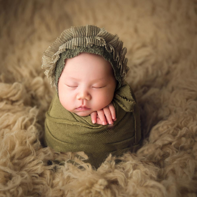 Newborn Photo Prop Set Baby Boy Girls Photography Outfit Knitted Romper Blanket
