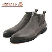 GRIMENTIN mens shoes casual boots fashion classic vintage motorcyle shoes genuine leather business shoes