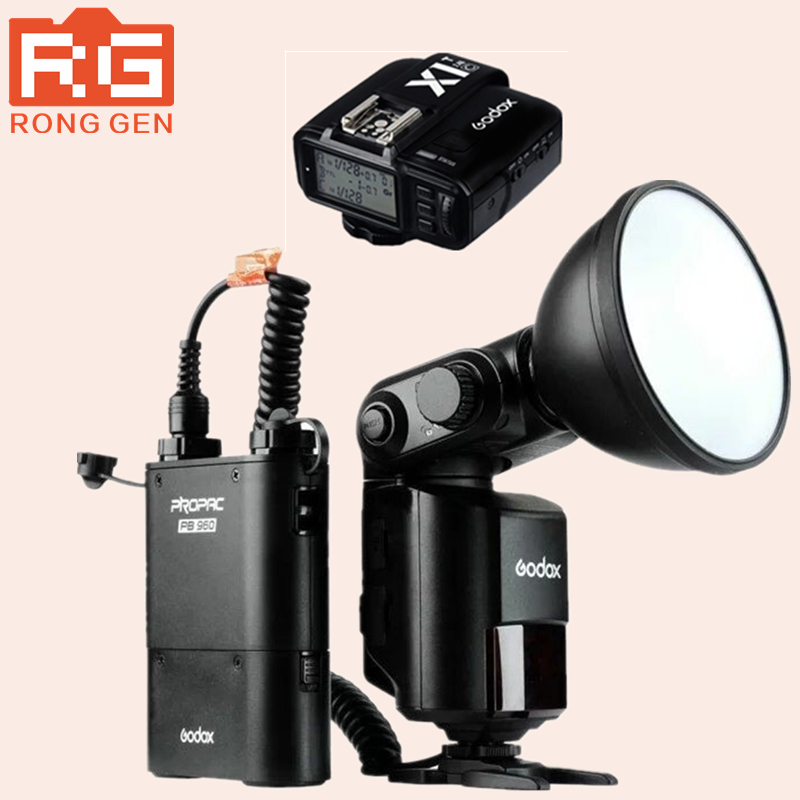 Godox WITSTRO AD360II/C+X1T TTL 360W/S Wireless Power Control Outdoor Flash Light + PB960 Power Battery Pack Kit Black for Canon