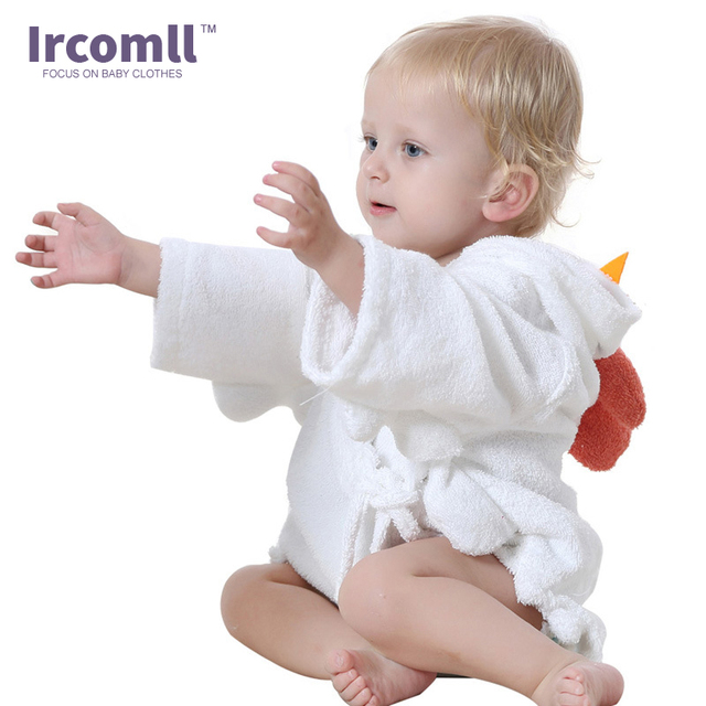 Children's Robe Bath Cute Cartoon Baby Bathrobe Comfortable Towel Bath Suction Sweat Home Wear For 0-12 Month 3