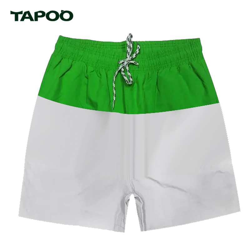 TAPOO Summer Men Casual Cotton Shorts Men Fashion Boardshorts Breathable Cargo Short Pants Men