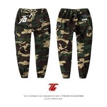 Купить с кэшбэком Size M-2XL TEE7 Men Cotton Pants Print GameOW Soldier76 Sweatpants Casual Hip Hop Track Pants Slim Fit Trouser Christmas Gift