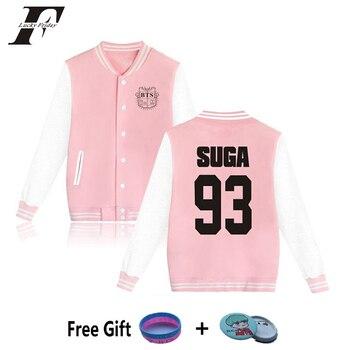 LUCKYFRIDAYF BTS kpopBaseball Jacket bomber jacket SUGA 93 Kpop Korean College  casaco feminino Bangtan Boys jaqueta feminina 건달 조폭 옷