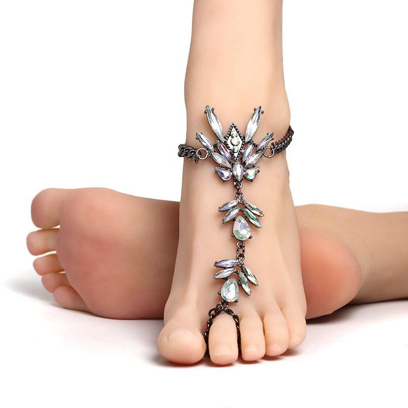 fashion 2017 ankle bracelet wedding barefoot sandals