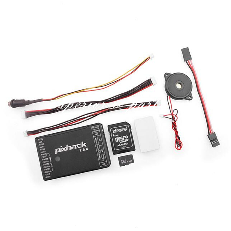 Pixhack 2.8.4 32-bit Flight Controller Based on Pixhawk for Autopilot UAV Drone Multicopter jmt pixhawk flight control px4 2 4 8 new 32 bit m8n gps kit for uav multi axis fixed wing drone