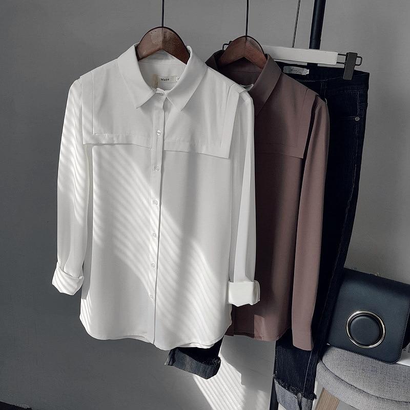 Nuevo 2017 Primavera Breve Sólido Mujeres Blusa Camisa Femenina Feminina Blusas