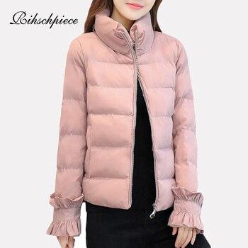 45538110b75 Rihschpiece зима плюс Размеры 3XL парка Для женщин куртка с хлопковой  подкладкой теплая куртка плотная одежда черный Короткое пальто RZF1522