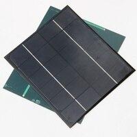휴대 전화 교육 키트에 대 한 미니 6 v 6 w monocrystalline 태양 전지 diy 태양 전지 패널 충전기 170*210mm 무료 배송