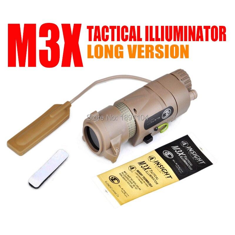 Element L 3 Warrior Systems Flash light M3X Tactical Illuminator Long new Version EX 175