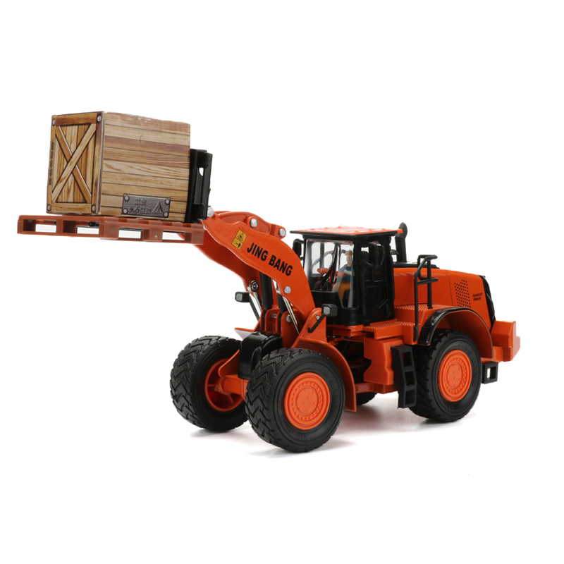 1:50 Wheel Forklift Toy Alloy Metal Forklift Truck Model Simulation Trucks Model Car Toys For Children Cars