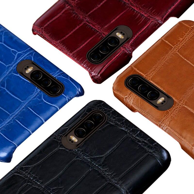 Natürliche krokodil leder Für Huawei p30 pro high end leder telefon fall für Huawei p30 P10 Lite p20 pro herbst schutz hülse - 6