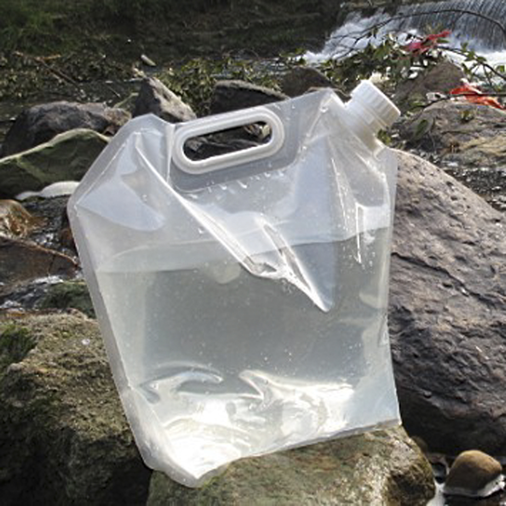 Folding 10L PE Foldable Outdoor Drinking Water Bag Pouch Container Barrel Carrier for Camping Hiking Picnic BBQ Accessories