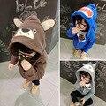 Baby shark head Hoodies outerwear Boy Girl Warm Bear owl Sweatshirts Kids Cartoon Minnie Child Costume Clothes jacket Cardigan
