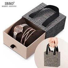 IBSO cristal Bracelet montres ensemble femme haute qualité Quartz montre de luxe femmes montre Bracelet ensemble pour le cadeau de la saint valentin