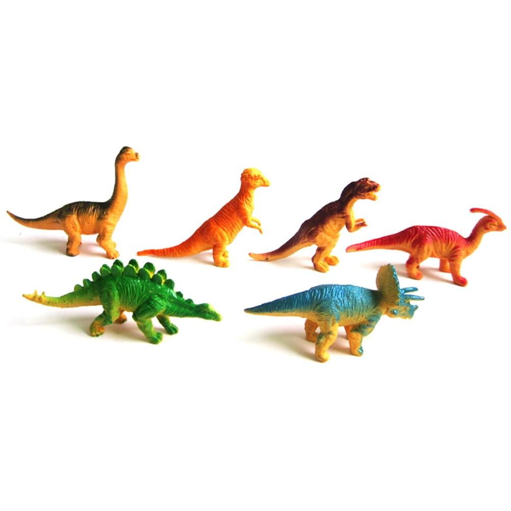 6pcs Large Assorted Dinosaurs Toy Plastic Figures Simulation Model Dinosaur LN