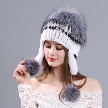 MIARA.L new otter rabbit fur lady hat is thickened to cover ears fox winter warm manufacturer wholesale mink