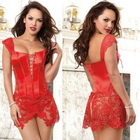 Lace Up Steampunk Party Sexy Intimates Corselet Tops Bustiers Gothic Body Shaper Plus Size Pu Waist Trainer Corsets