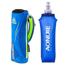 AONIJIE Outdoor Sport Water Hydration Bag Marathon Handheld Pack Hiking Running Hand Bag Water Bottle Holder + 500ml Soft Kettle