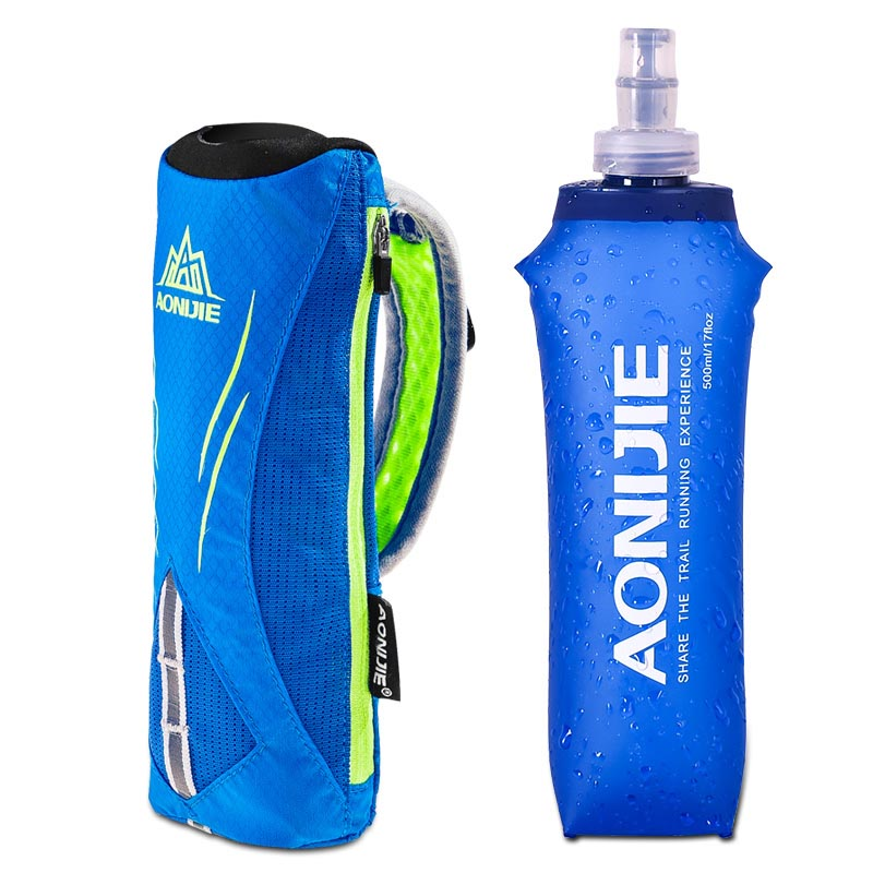 AONIJIE Running Hand Hold Bag 500ml Soft Kettle Outdoor Sport Water Hydration Bag Marathon Handheld Pack Water Bottle Holder