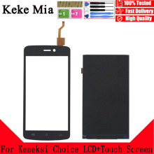Keke Mia 5.0 Touch Screen LCD Display Panel Sensor For Keneksi Choice Touch Digitizer Phone Front Glass Lens Free Tools new for 4 keneksi wind touch screen touch panel digitizer glass sensor replacement free shipping