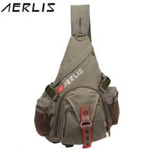 Fashion AERLIS Men Women Canvas Casual Travel Chest Bag Crossbody Bag Travel Bag 2016 New