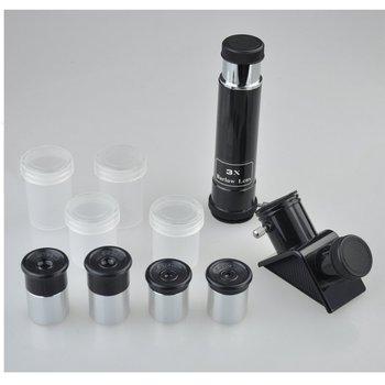 0 965 Cal zestaw akcesoriów teleskopowych do teleskopu 0 965-z czterema okularami jedną przekątną 3-krotnym obiektywem barlowa tanie i dobre opinie QHBL001 Solomark