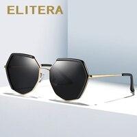 ELITERA новые модные винтажные Поляризованные Солнцезащитные очки женские мужские негабаритные женские брендовые дизайнерские солнцезащитн...