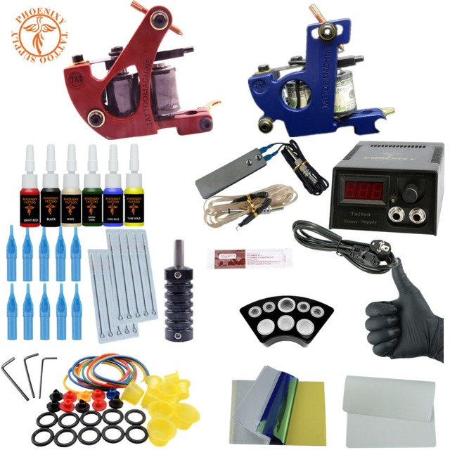 Aliexpress.com : Buy Completed Tattoo Machine Kit Two Tattoo Gun ...