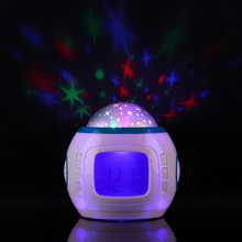 Sky Star Children Baby Room Night Light Projector Magic Digital Music Projection Starry Alarm Clock Lamp Multi-function Glowing