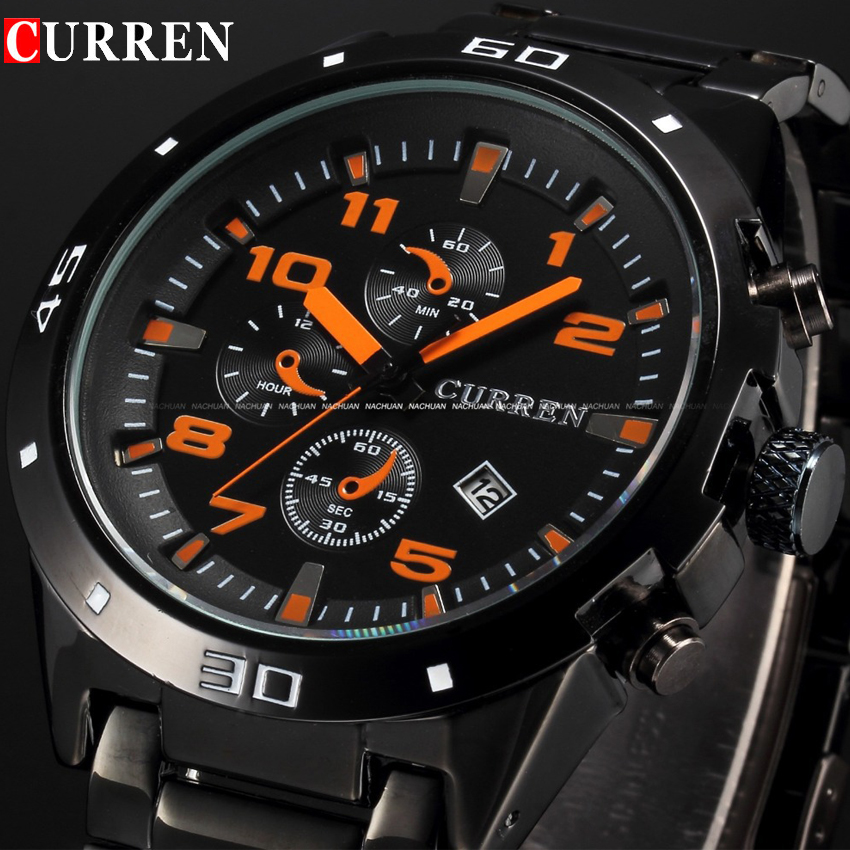 Curren Brand Luxury Mens Watches Stainless Steel Date Display Men Clock Quartz Watch Waterproof Sport Wristwatch Relojes Hombre curren watches mens brand luxury quartz watch men fashion casual sport wristwatch male clock waterproof stainless steel relogios
