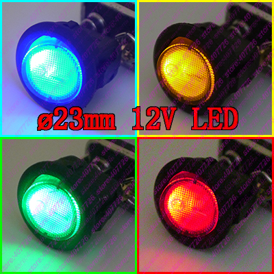 High Quality 4Pcs Car DIY 23mm Mini Round Rocker Switch 12V/16A LED illuminated Toggle Switch O - Power Switch Push Button g126y 2pcs red led light 25 31mm spst 4pin on off boat rocker switch 16a 250v 20a 125v car dashboard home high quality cheaper
