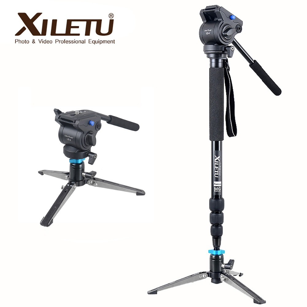 Xiletu MV284A LS4 Aluminum Monopod& Support Frame Hydraulic Head Camera Stabilizer For Canon Eos Nikon DSLR Camera