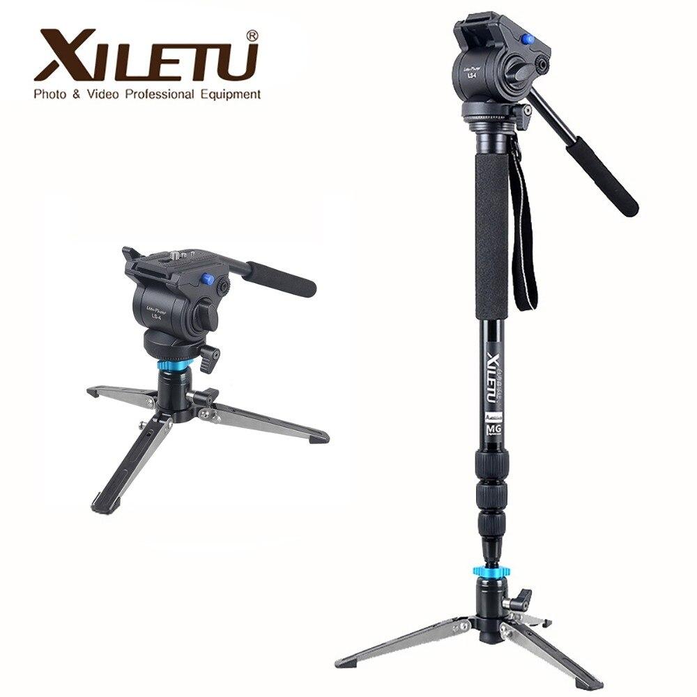 Xiletu MV284A LS4 En Aluminium Manfrotto & Cadre de Support Hydraulique Tête Caméra Stabilisateur Pour Canon Eos Nikon DSLR Caméra