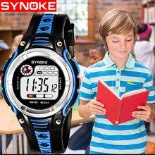 Модные брендовые женские и мужские Спортивные кварцевые наручные часы водонепроницаемые детские цифровые светодиодный спортивные часы для мальчиков детские часы с будильником и датой A4