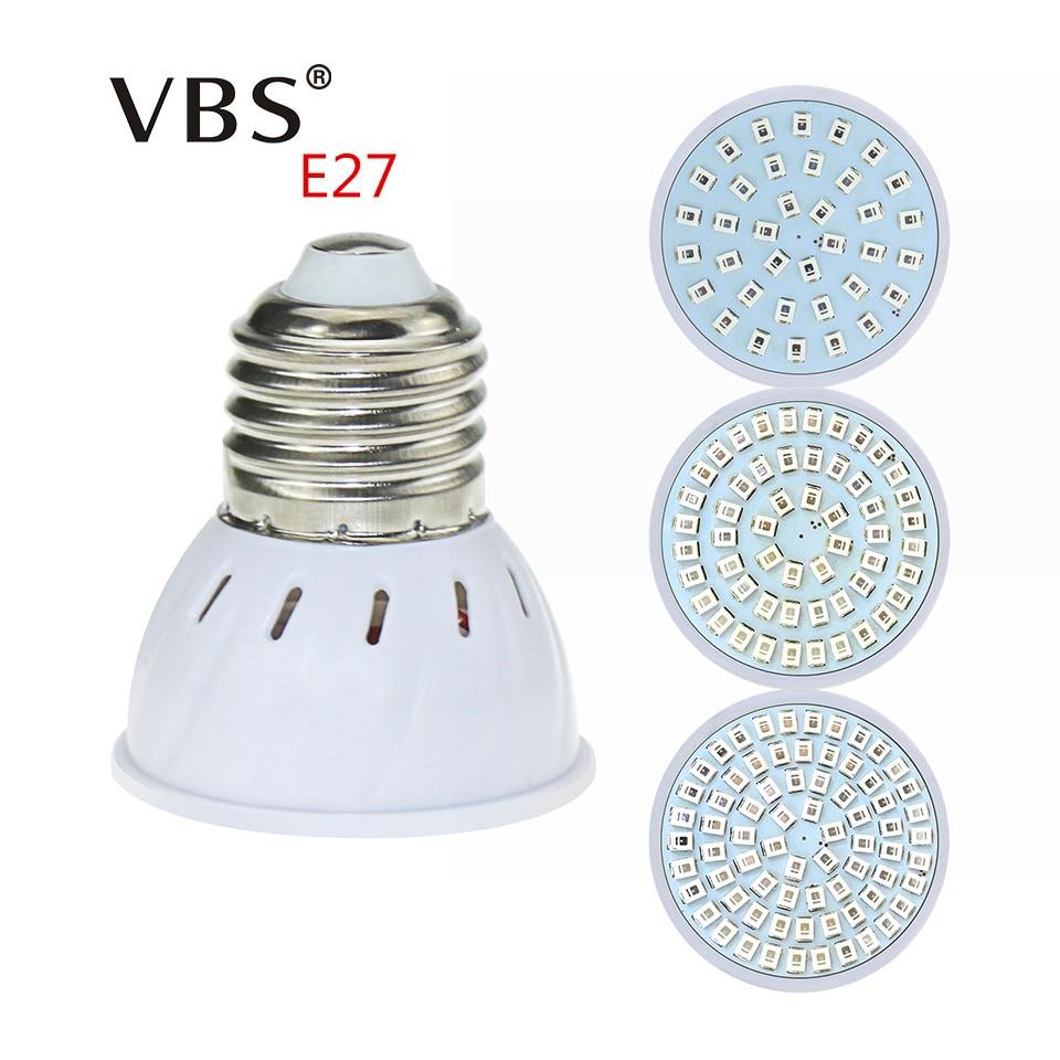 E27 Led Grow Light Bulb Full Spectrum Plant Lamp 220V 36 54 72LEDs bombillas led For Garden led light accelerate Growth