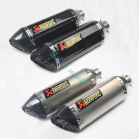 Inlet 36 51mm Universal Exhaust Muffler Pipe For R1 R6 ZX6R ZX10R Most Motorcycle ATV Sticker Carbon Escape DB Killer