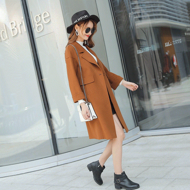 Hiver Feminino Caramel Veste Automne Femelle Mode Color Femmes Manteaux De Color 2018 Casaco camel Yellow army Laine Femme caramel tibetan Color Green Supérieure blue Manteau Long Qualité Color AqOaxPwZ