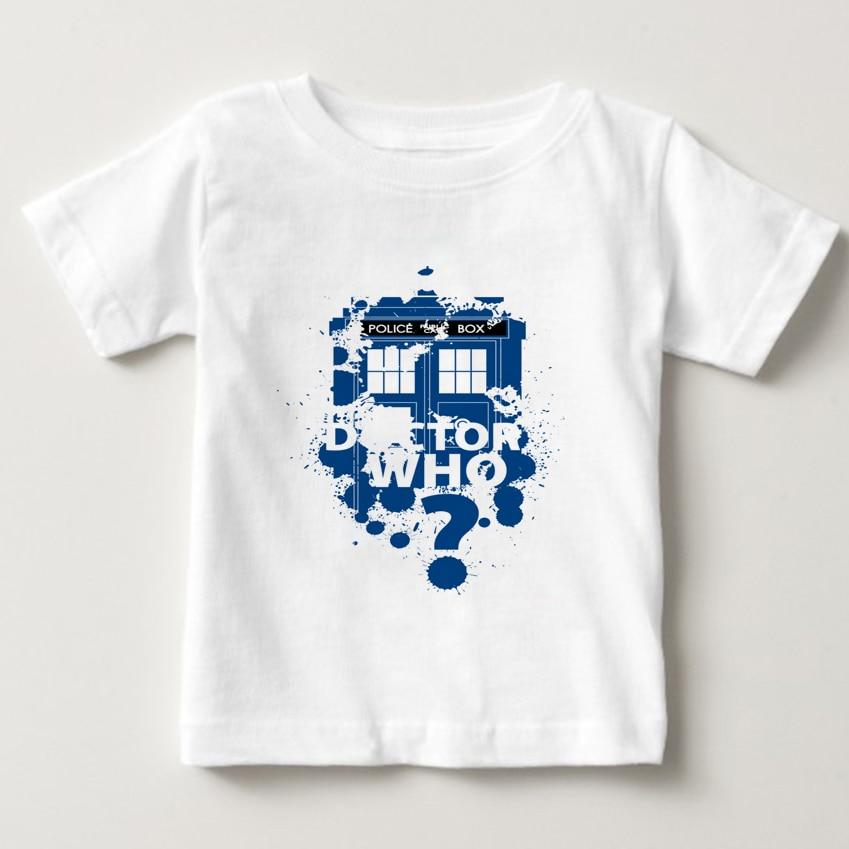 2018 summer T Shirts Boy/Girl Funny T Shirts Kids O-Neck Short Sleeve t shirt Doctor Who print Tees Shirt Baby cool tops NN