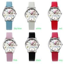Ot03 Высокое качество Мода Кот Дизайн часы/Симпатичные Дети Часы/малыш кварцевые наручные Часы
