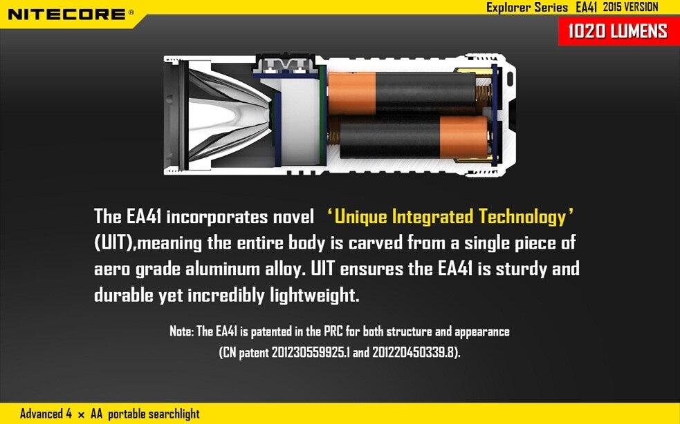 2015 Versão Nitecore EA41 Cree XM-L2 U2