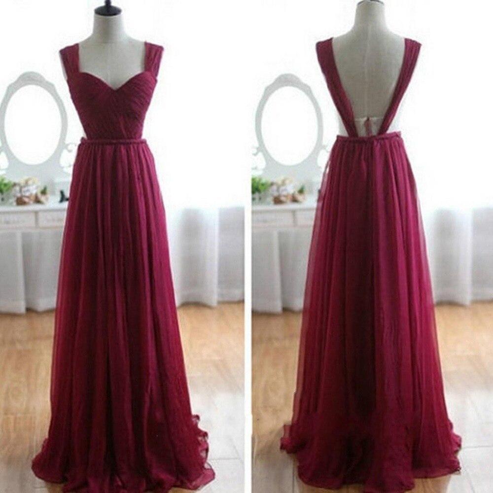 Vestidos Dama De Honor Vino Tinto