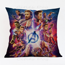 Super heroes movie photos show pillow case Sofa shop bar hotel club chair Cushion Cover Home Decorations Case for children gift