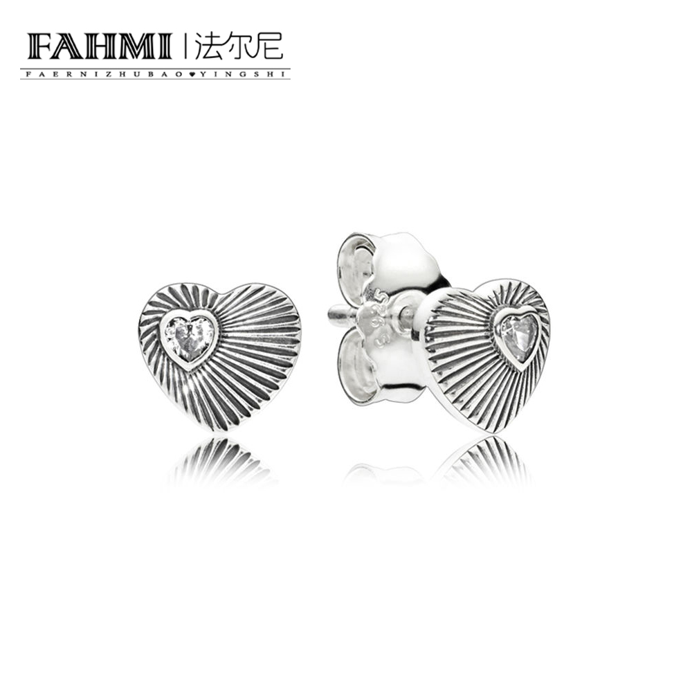 FAHMI 100% 925 Sterling Silver Authentic New Retro Love Small Shell Earrings Charm Original Women Jewelry Factory Direct Sales 0
