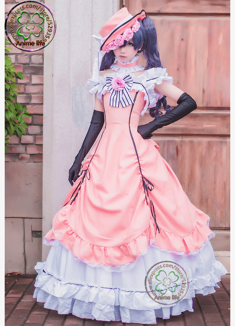 free shipping black butler ciel phantomhive cosplay