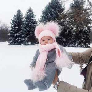 6a53f1b95d7 Mom Newborn Baby Boy Girls Winter Warm Knit Beanie Hat Cap