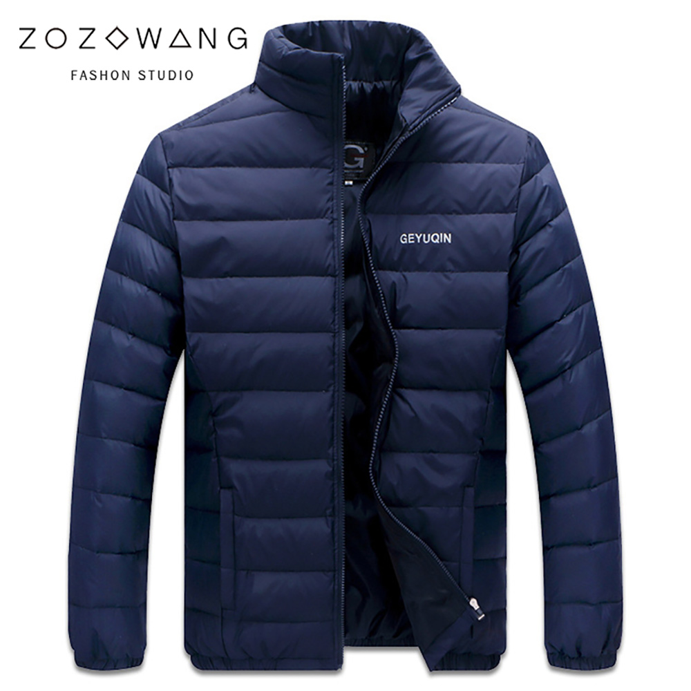 Big Size 2019 White Duck   Down   Men's Winter Jacket Ultralight   Down   Jacket Outerwear Snow Warm Standing collar Brand   Coat   Parkas
